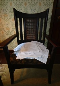 Chair with Papers